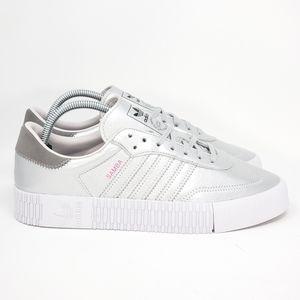 Adidas Womens Sabarose Metallic Silver Size 10